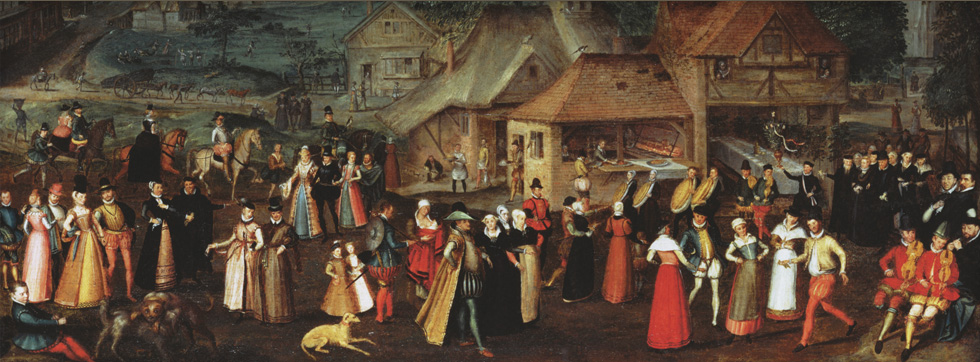 Welcome to  Early Modern England: Society, Culture and Everyday Life, 1500-1700. Image: 'Festival at Bermondsey' Attributed to Marcus Gheeraerts the Elder [Public domain]